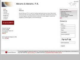 Abrams & Abrams, P.A. (Wake Co., North Carolina)