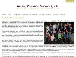 Allen, Pinnix & Nichols, P.A. (Raleigh, North Carolina)