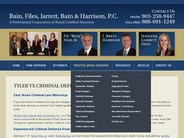 Bain Files Jarrett Bain & Harrison, P.C. (Longview, Texas)