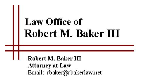 Law Office of Robert M. Baker III (Indianapolis, Indiana)
