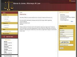 Bervar & Jones, Attorneys At Law (Honolulu Co., Hawaii)