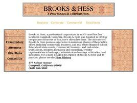 Brooks & Hess (Saratoga, California)