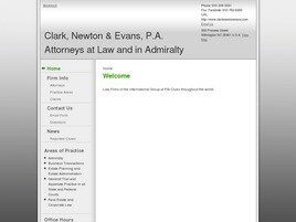 Clark, Newton & Evans, P.A. Attorneys at Law and in Admiralty (Wilmington, North Carolina)