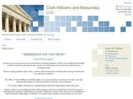 Clark Williams and Matsunaka LLC (Loveland, Colorado)