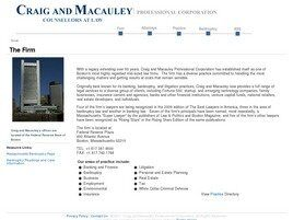 Craig and Macauley Professional Corporation (Boston, Massachusetts)