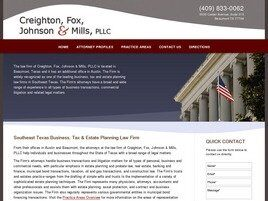 Creighton, Fox, Johnson & Mills, PLLC (Beaumont, Texas)