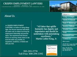 Crispin Russell PC, dba CRISPIN EMPLOYMENT LAWYERS (Salem, Oregon)
