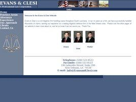 Evans and Clesi A Professional Law Corporation (New Orleans, Louisiana)