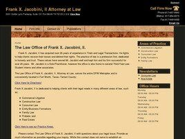 Frank X. Jacobini, II Attorney at Law (Tarrant Co., Texas)