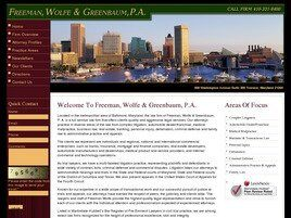 Freeman, Wolfe & Greenbaum, P.A. (Baltimore, Maryland)