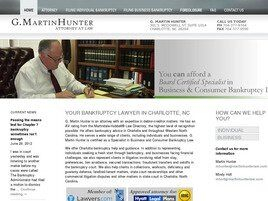 G. Martin Hunter, Attorney at Law (Charlotte, North Carolina)