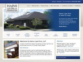 Hains Law Firm, LLP (South Bend, Indiana)
