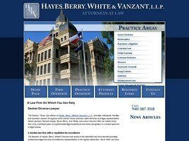 Hayes, Berry, White & Vanzant, LLP (Denton Co., Texas)