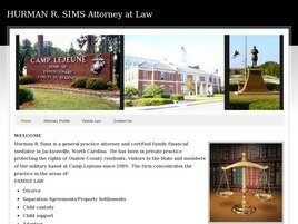 Hurman R. Sims, Attorney at Law (Onslow Co., North Carolina)