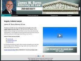 James W. Burns Attorney At Law (De Kalb Co., Indiana)