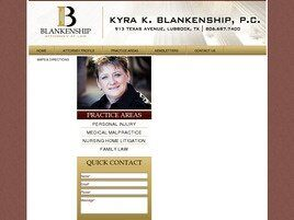 Kyra K. Blankenship Attorney at Law (Lubbock Co., Texas)