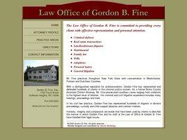 Law Office of Gordon B. Fine (Westchester Co., New York)