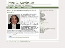 Irene C. Warshauer Attorney, Mediator and Arbitrator (New York, New York)