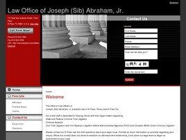 Law Office of Joseph (Sib) Abraham, Jr. (El Paso, Texas)