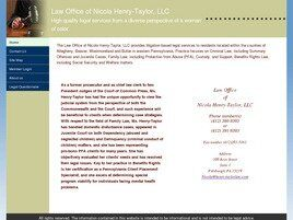 Law Office of Nicola Henry-Taylor, LLC (Butler, Pennsylvania)