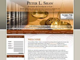 Law Office of Peter L. Shaw (Houston, Texas)