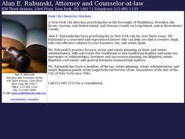 Law Offices of Alan E. Rabunski (Bronx, New York)