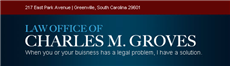 Law Offices Of Charles Groves, LLC (Greenville, South Carolina)