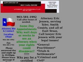 Law Offices of Eric Dana Jensen (Tyler, Texas)