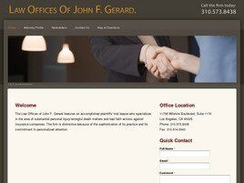 Law Offices Of John F. Gerard (Los Angeles, California)