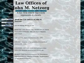 Law Offices of John M. Netzorg (Las Vegas, Nevada)