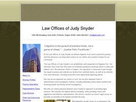 Law Offices of Judy Snyder (Multnomah Co., Oregon)