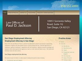 Law Offices of Paul D. Jackson (San Diego Co., California)
