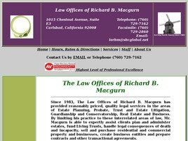 Law Offices of Richard B. Macgurn (San Diego Co., California)