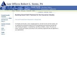 Law Offices of Robert L. Siems, P.A. (Baltimore, Maryland)