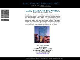 Law, Snakard & Gambill A Professional Corporation (Fort Worth, Texas)