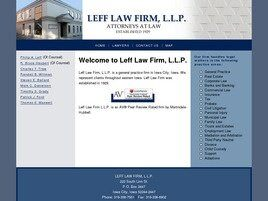Leff Law Firm, LLP (Iowa City, Iowa)