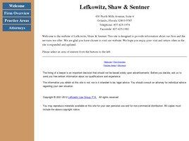 Lefkowitz, Shaw & Sentner Attorneys at Law (Orlando, Florida)