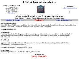 Lewiss Law Associates, LLP (Westerly, Rhode Island)