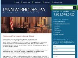 Lynn W. Rhodes, P.A. Attorney and Counselor at Law (Winter Haven, Florida)