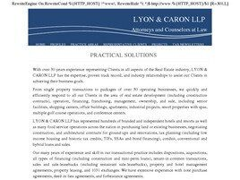 Lyon & Caron LLP (Lake Co., Illinois)
