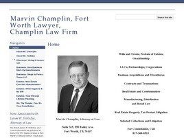Marvin Champlin, Attorney at Law Champlin Law Firm (Fort Worth, Texas)