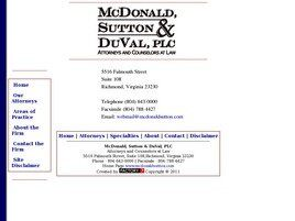 McDonald, Sutton & DuVal, P.L.C. (Richmond, Virginia)