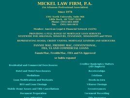 Mickel Law Firm, P.A. (Little Rock, Arkansas)