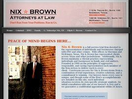 Nix * Brown Attorneys at Law (Dallas Co., Texas)
