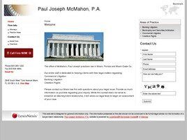 Paul Joseph McMahon Attorney at Law (Miami, Florida)