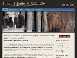 Shain, Schaffer & Rafanello A Professional Corporation (Somerset Co., New Jersey)