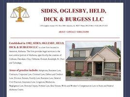 Sides, Oglesby, Held, Dick & Burgess LLC (Talladega, Alabama)