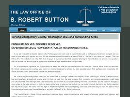 The Law Office of S. Robert Sutton (Rockville, Maryland)