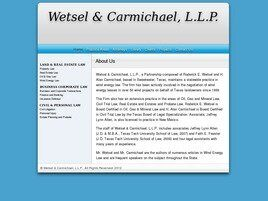 Wetsel & Carmichael Law Firm, L.L.P. (Abilene, Texas)