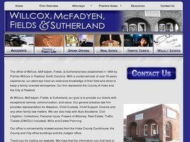 Willcox, McFadyen, Fields & Sutherland (Fayetteville, North Carolina)